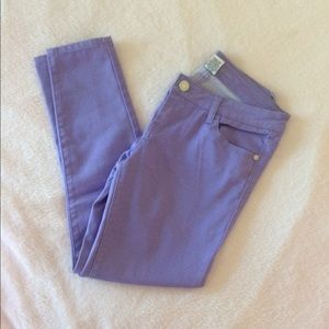 Celebrity Pink - Purple crop skinny jeans